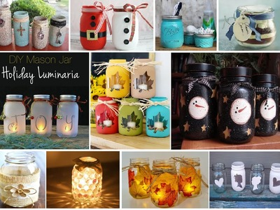 DIY mason jar room decor 2016 | DIY mason jar lights | How to make mason jar crafts