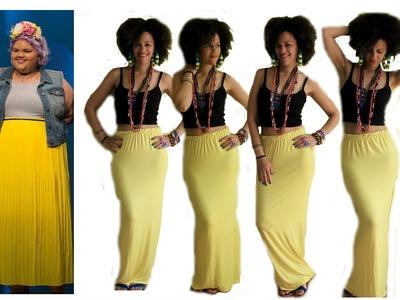 DIY Maxi Skirt in 20 Min | Inspired by Ashley Tipton