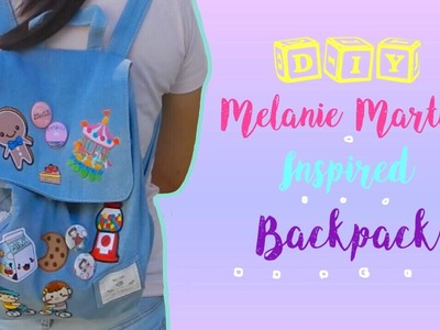 DIY Melanie Martinez Inspired Custom Backpack | DIY Back To school Denim Patch Backpack !!