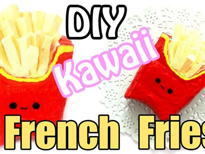 DIY Mini French Fries Squishy Tutorial (Make Up Sponge)