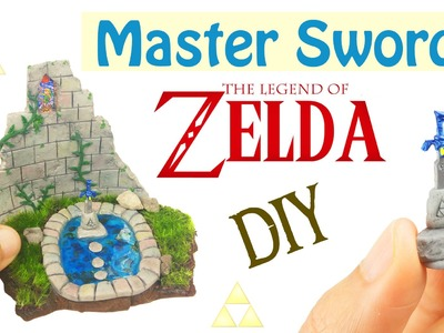 DIY MINI MASTER SWORD LEGEND OF ZELDA Breath of the Wild Resin & Polymer Clay Tutorial how to