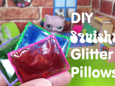 DIY Miniature Doll Squishy Liquid Glitter Pillows