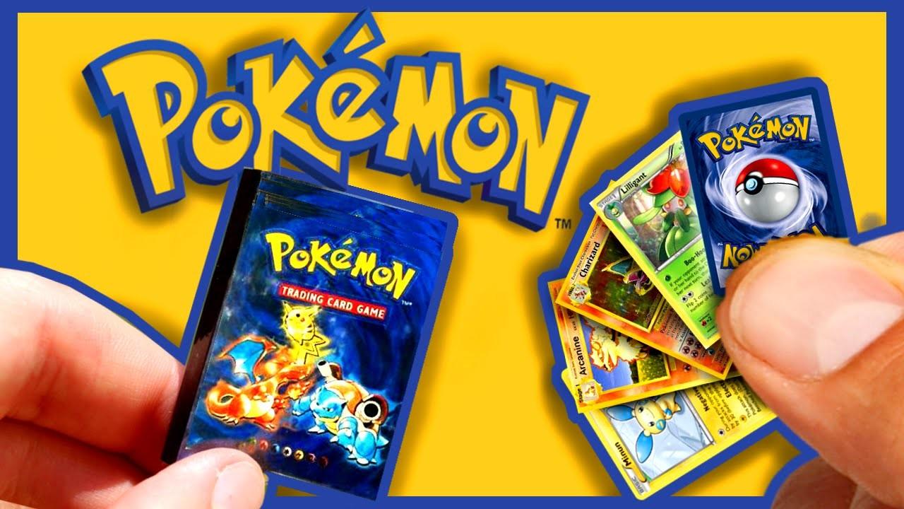 DIY Miniature Pokemon Cards and Album   TUTORIAL