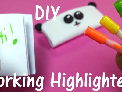 DIY Miniature Working Doll Highlighters Markers Sharpies: Back to School