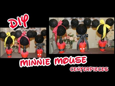 DIY Minnie & Mickey Mouse Centerpieces | Girl's Birthday Party Decorating Ideas |  Baby's 1st BDAY