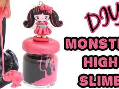 DIY Monster High Slime - Draculaura Chibi + Giveaway (CLOSED)
