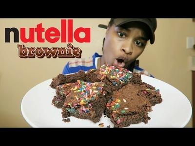 DIY NUTELLA BROWNIES TASTE TEST
