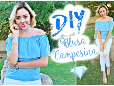DIY OFF THE SHOULDER TOP EASY | TUTORIAL BLUSA CAMPESINA FACIL | ARELI DURAZO