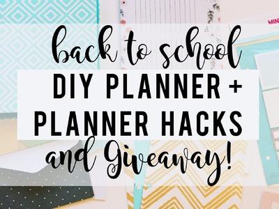 DIY Planner and Planner Hacks + (GIVEAWAY)