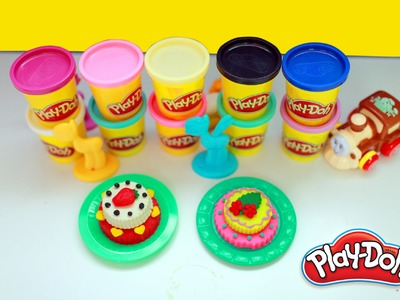 DIY Play Doh Cakes, Play Doh Cookies, Play Doh Ice Cream,  How to make Play Doh Tutorial 2016