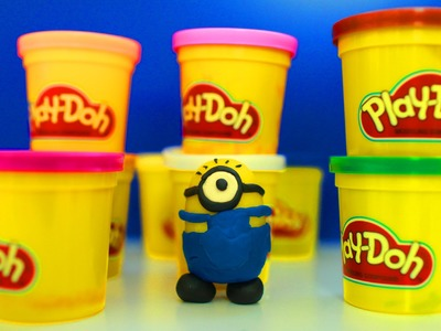 DIY Play Doh Minions Despicable Me - How To Make Play Doh Tutorial 2016
