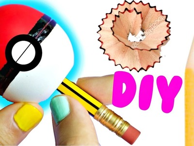 DIY POKÉBALL SHARPENER | EASY Back to School Supplies 2016