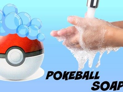DIY POKEBALL SOAP ! | how to make your own pokeball | ROUND SOAP ! |