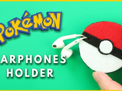 DIY Pokemon Go Pokeball Earphones Holder | DIY Earphones Holder