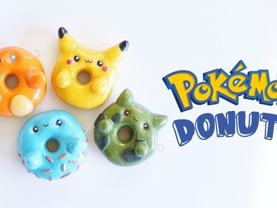 DIY ♥ POKEMON POLYMER CLAY DONUTS