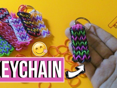 DIY Rainbowloom.Rubber band Keychain l Little Miss Inspiration