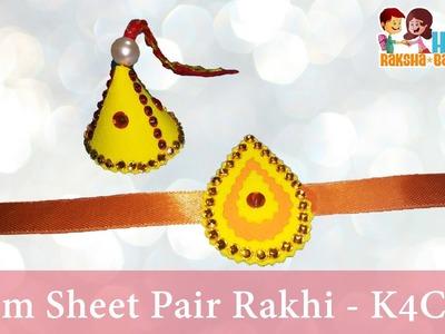 """DIY: Rakhi Making - """"Foam sheet + Stone"""" Pair Rakhi video - Raksha Bandhan"""