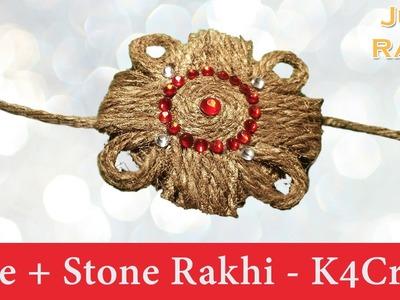 """DIY: Rakhi Making - """"Jute + Stone"""" Rakhi tutorial - Raksha Bandhan"""