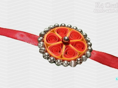 "DIY: Rakhi Making - Paper Quilling ""Orange"" Rakhi video - Raksha Bandhan"