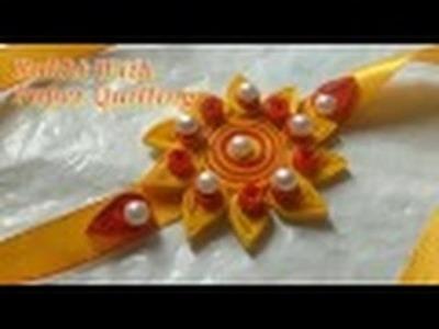 DIY Rakhi Making With Paper Quilling For Raksha Bandhan | CraftLas