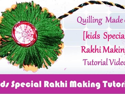 DIY: Rakhi Making - Woolen & Paper Orange & Green Rakhi video tutorial - Raksha Bandhan Special