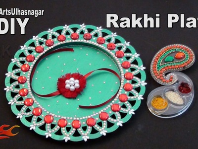 DIY Rakhi Pooja Thali. Plate  for Raksha Bandhan | How to make | JK Arts 1003