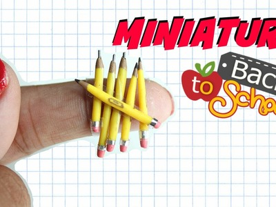 DIY REAL Miniature pencils | REALLY WORK!