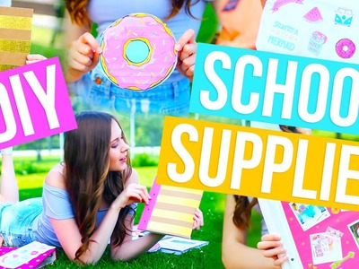 DIY School Supplies! Back To School Notebooks, Binder, Pencil Case + More 2016-2017