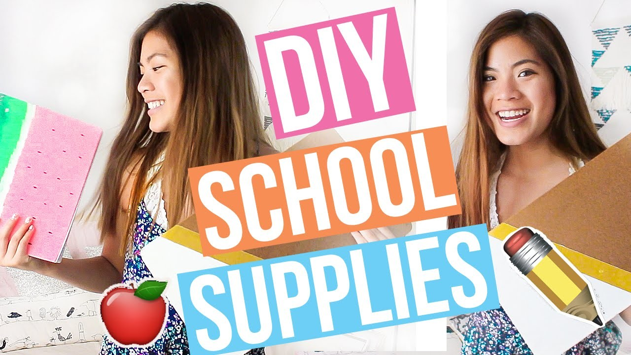 DIY School Supplies for Back to School You NEED to Try 2016-2017!! Cute + Easy    Ariel Alena