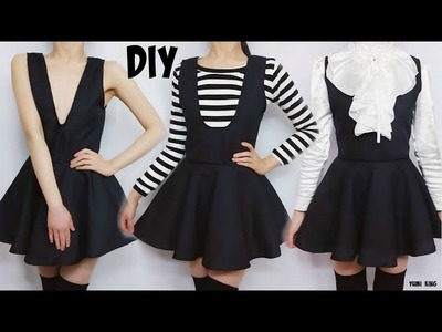DIY Semiformal Sleeveless V Neck Dress + Easy Pattern Making | DIY  Back to School Outfit