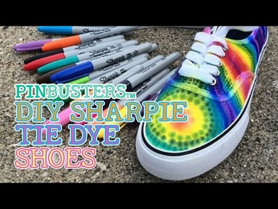DIY Sharpie Tie-Dye Shoes. IS THIS PINTEREST PIN THAT EASY?
