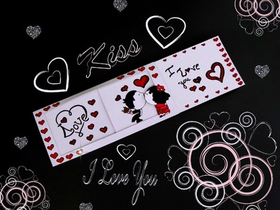 DIY SLIDER CARD (tutorial). DIY CARD KISS. LOVE MESSAGE. DIY CARD.