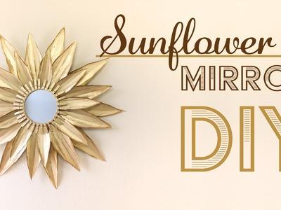 DIY Sunflower Mirror Wall - Home Decor. Espejo de Girasol -  decoracion de hogar