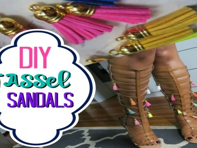 DIY Tassel Sandals | Make Your Own AWESOME Sandals this Summer!