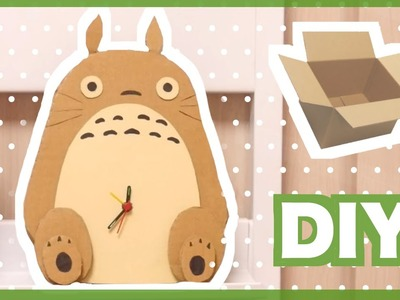 DIY Totoro Clock from Cardboard
