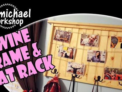 DIY Twine Picture Frame & Coat Rack Combo. How-To Woodworking