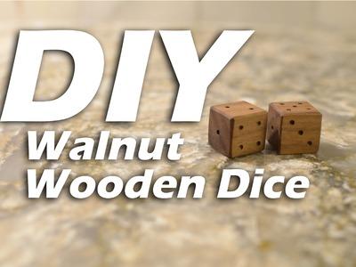 DIY Walnut Wooden Dice - HTM Dados de Madera