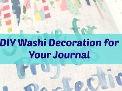 DIY Washi Tape Decorative Border for your journal | Hobonichi Techo