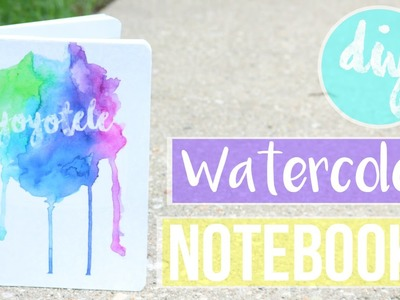 DIY Watercolor Notebook WITHOUT WATERCOLORING?!?! | Back to School 2016 | YoyoTele