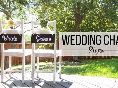DIY Wedding Chair Signs - Decoración de Bodas