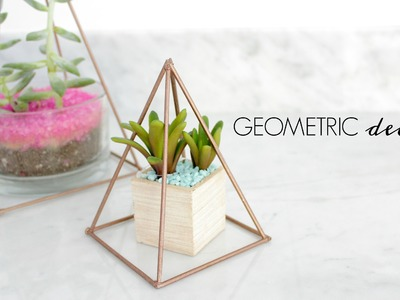 Easy DIY Copper GEOMETRIC DECOR- $5