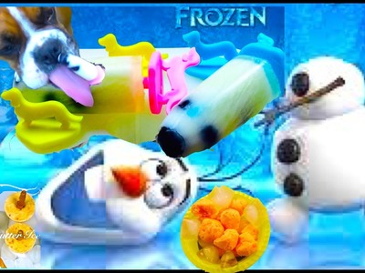 FROZEN DISNEY DOG ICE CREAM POPSICLE TREATS -  DIY Dog Food by Cooking For Dogs