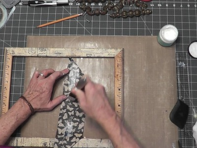 Graphic 45 DIY Upcycled Picture Frame Tea Tray Tutorial