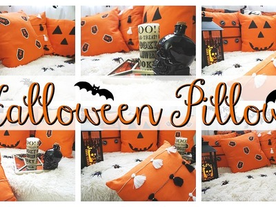 HALLOWEEN HAPPY.HALLOWEEN PILLOWS DIY!!!!!