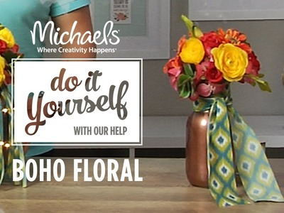 How to Create a Boho Floral Centerpiece | DIY Summer Party | Michaels