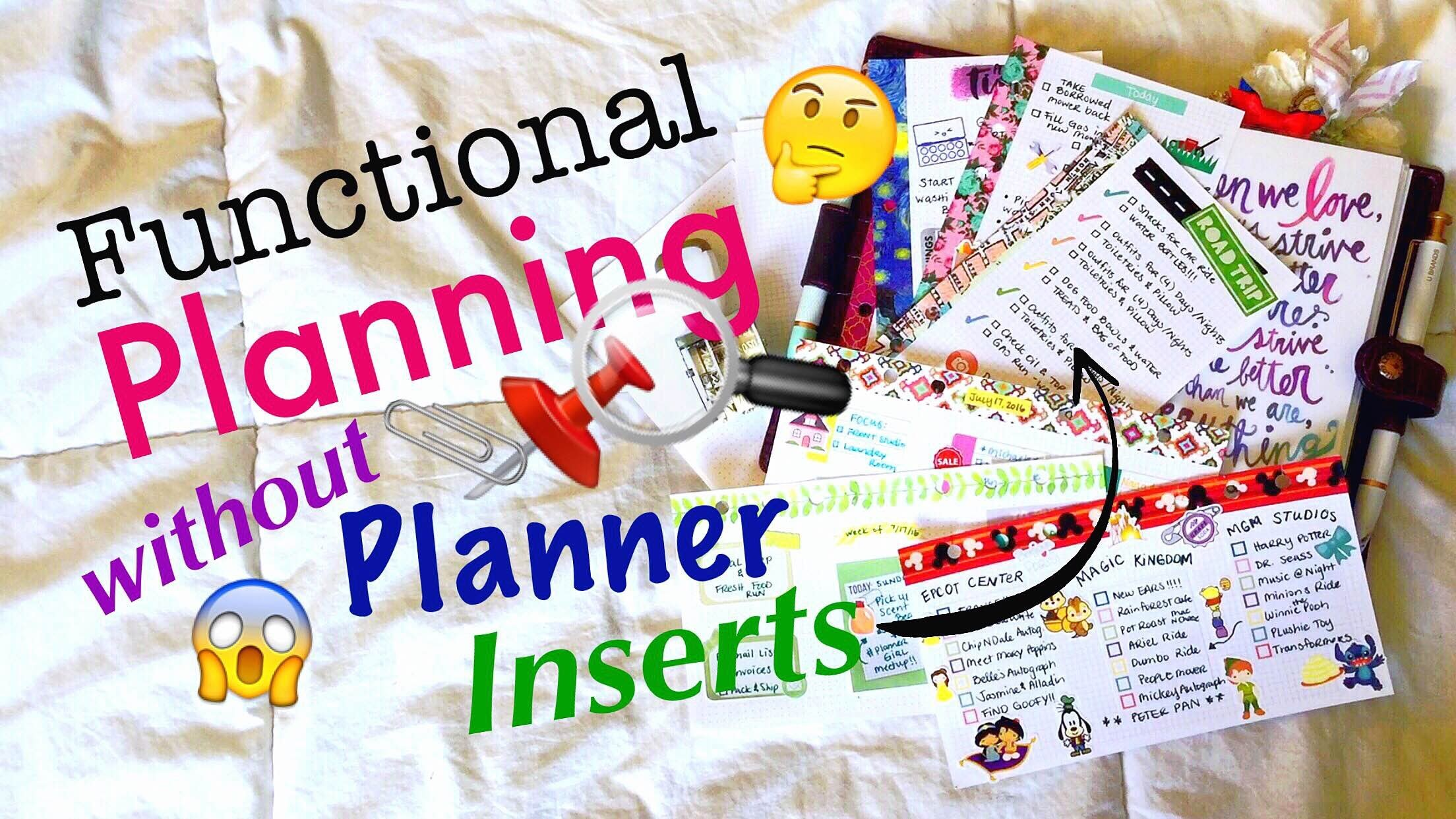 How to do Functional Planning without Planner Inserts \\ DIY Personal Planner Tutorial