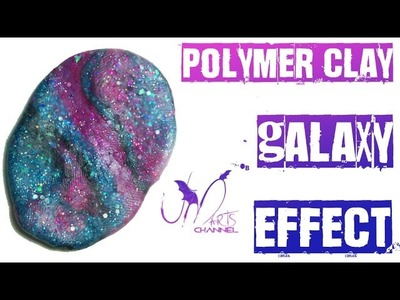 How to do Galaxy Effect with Polymer Clay - Fimo Tutorial - DIY