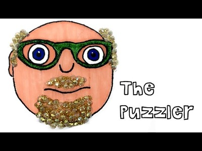 How to draw The Puzzler from The Numberjacks - DIY Glitter and Rhinestone Craft Tutorial