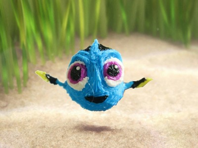 How to make a  baby dory (Finding dory)- 3D Pen Art.DIY-The Future Pen