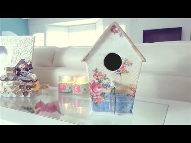 How to make a cardboard Bird House DIY | Easy DIYs